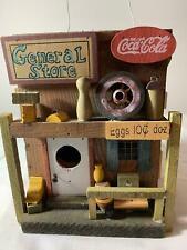 Coca-Cola Collectible Handmade Coke Wood General Store Birdhouse Decor Barn