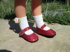 Chaussures paillettes rouge 5.8 x 2.5 pour poupée les chéries corolle camille