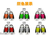 Colored No Tie Elastic Shoe Laces 100% Silicone Trainers Adult Shoelaces GIFT