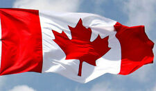 Canadian Flag 5' x 3' High Quality Nylon  Flag 2 Metal Grommets Fast Shipping