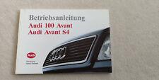 Audi 100 C4 S4 Avant   Bedienungsanleitung Betriebsanleitung Instruction Manual