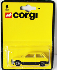Corgi Junior Vauxhall Nova in Yellow missing name NOVA on Base Mint carded