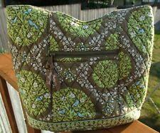 VERA BRADLEY Quilted Shoulder Tote Bag Magnetic Closure 5 Pockets 2 Zippered