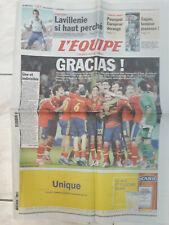Journal L'EQUIPE - ESPAGNE VAINQUEUR EURO 2012