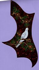 """DOVE"" DESIGN ACOUSTIC GUITAR PICKGUARD SCRATCHPLATE, NEW"