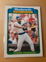 1990 Topps Woolworth #11 Andre Dawson Chicago Cubs Baseball Card, IF, OF, HOF.