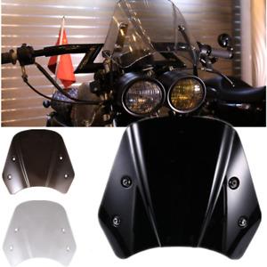 Universal Retro Smoke Motorcycle Headlight Fairing Windshield Windscreen