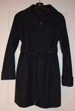 Theory Navy Wool Ladies Coat with Belt Size Medium