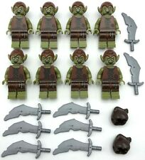 LEGO 8 New Lord of the Rings Goblin Minifigures w/ Swords Weapons Ogre Monsters