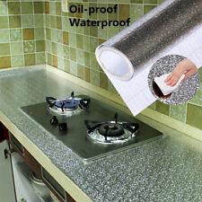 40X100CM Kitchen Oil-proof Aluminum Foil Sticker DIY Wallpaper Floor Waterproof