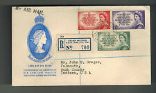 1953 Australia Qe Ii Coronation First Day Cover Queen Elizabeth 2 Fdc to Usa Fdc