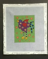 Mile High Princess Hand-painted Needlepoint Canvas Bright & Colorful Bird