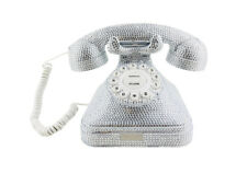 BlingUstyle Sliver crystal retro design Big home phone for home office and gift