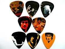 Lot de huit différents BRUCE LEE Guitar Picks recto verso