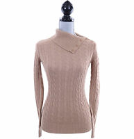 Tommy Hilfiger Women Long Sleeve Turtle Mock Neck Pullover Sweater -Free $0 Ship