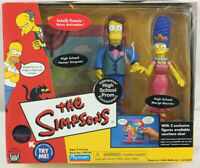 Simpsons Playmates World of Springfield High School Homer and Marge Prom Figures