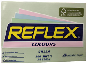 Reflex Colours 80gsm A4 Copy Paper Green 500 Sheets