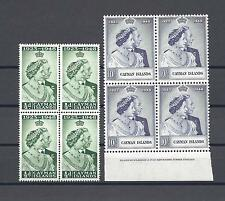 CAYMAN ISLANDS 1948 SG 129/30  RSW MNH Blocks of 4 Cat £96.40