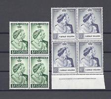 CAYMAN ISLANDS 1948 SG129/30  RSW MNH Blocks of 4 Cat £96.40