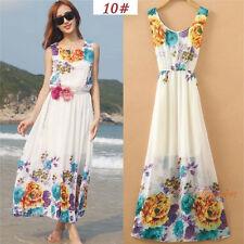 Sexy Women Long Boho Maxi Evening Party Dress Chiffon Dress Summer Beach Dresses-sdQ