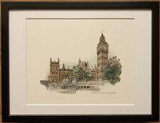 London Attraction prints, 12''x16'', set of london prints. big ben, Hugh Chevins