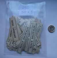 250  ANTIQUE APOTHECARY STRIP LABELS CIRCA 1880 H.SILVERLOCK LONDON 50 X 5