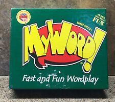Educational Card Game MY WORD! Fast and Fun Wordplay 12+ award winning game