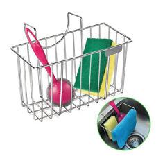 Sponge Holder Sink Caddy, Organizer Kitchen Brush Soap, Stainless Steel Hanging