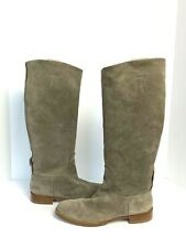 Rag & Bone Holly Gray Suede Knee Boots 40 10 New