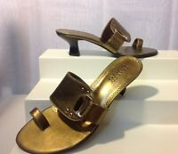 Franco Sarto Women's Gold High Heels Sandals Size 7M