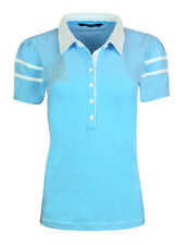 WOMENS Size 8 CANTERBURY St Margarets Polo Shirt Rugby T England NEW Ladies Blue