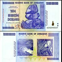 Zimbabwe 10 Billion Dollars 2008 P 85 AUNC About UNC