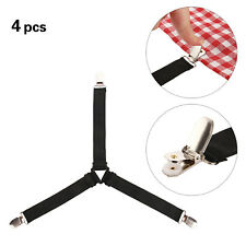 4Pcs Bed Sheet Clips Triangle Grippers Strap Holder Electroplated Duckbill Clamp