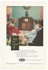 Vintage 1948 Original Du Mont Savoy Television Ad She Shed or Man Cave Decor