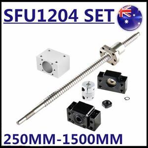 Ball Screw SFU1204 250~1500mm End Machine BallScrew+BK/BF10+6.35*8mm Coupler CNC
