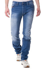 RRP €150 DIESEL W28 L32 Men's SAFADO 0830W Distressed Straight Jeans