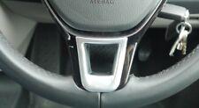 VW T6 Transporter Steering Wheel Trim Badge Cover Satin Chrome