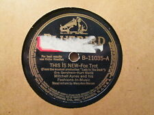 MITCHELL AYRES w/ vocals MARY ANN MERCER -  This Is New / Jenny   BLUEBIRD 78rpm