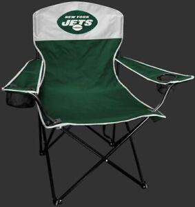 NEW YORK JETS LINEMAN Quad Folding Chair [NEW] NFL Travel Tailgate