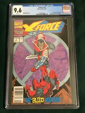 X-Force # 2 (9/91) CGC Graded Comic Book 9.6 NM+ 2nd Appearance Deadpool