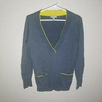 Delia Sweater M Women L/S Stretch Pullover Layered Prep Pocket