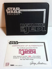 1995 Star Wars:ROJ Silver Postage Stamp Wallet from St Vincent w COA (M5818)