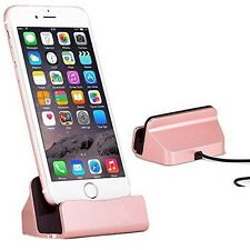 Desktop Stand Charger Dock Cradle Cable Charging Sync Dock For iPhone/Android W