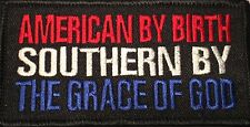AMERICAN BY BIRTH... BIKER MOTORCYCLE VET MILITARY EMBROIDERED VEST PATCH P-35