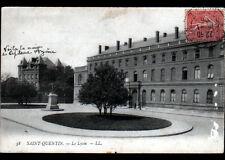 SAINT-QUENTIN (02) VILLA du Capitaine AZEMA & LYCEE animé en 1906