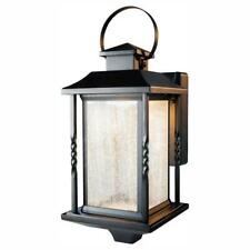 Portable Black Outdoor Integrated LED Wall Lantern Sconce by  Home Decorators C.