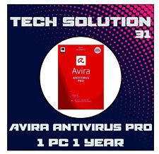 Avira Antivirus Pro 2020 | 1 DEVICE | 1 YEAR WIN or Mac+Support+Proof of Genuine
