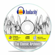 Audacity, Professional Studio Audio Recording, MP3 Music Editing Software CD F16