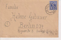 Bizone/AM-Post, Mi. 9 EF Burgdorf/Han., 17.6.46