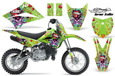 KAWASAKI KLX 110L Graphic Kit AMR Racing # Plates Decal Sticker Part 10-18 EDHL